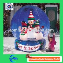 Bola inflable gigante de la nieve del globo de la nieve del globo hecho a mano de la nieve para la venta