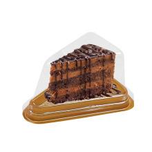 Petite boîte à gâteaux transparente en plastique triangulaire