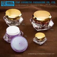 Série YJ-V 5g 15g 30g 50g alta limpar a jarra de acrílico diamante