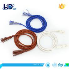 factory design fashion pu braided dress belt for women