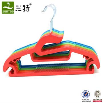 supermarket multi color plastic cloth hanger for outdoor