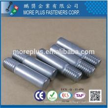 Hecho en Taiwán Perno del acero inoxidable 316 con el hilo con el punto de extremo plano Pin especial
