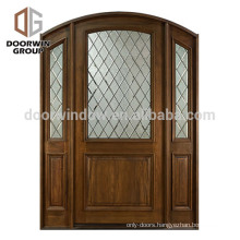 European Country Style Wholesale Swing Interior Door with side lite and transom