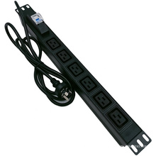 IEC C19 PDU 6 Ways Socket with Circuit Breaker