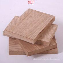 Barato tablero de MDF llanura de alta calidad para muebles