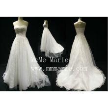 Простой милая Эйфелева иллюзия назад свадебное платье свадебное платье с застежкой-молнией БЫБ-14594