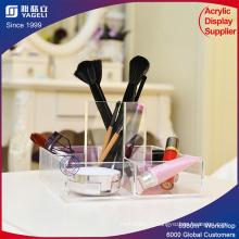 Porte-pinceau de maquillage acrylique avec couvercle
