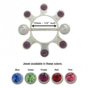 2012-Stillhütchen in Sterling Silber mit Edelsteinen