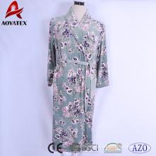 Super soft microfiber floral printed new style micromink women bathrobe