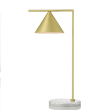 Antique brass bronze iron marble led reading table lamp lighting wholesale modern simple bedside hotel desk table lamp