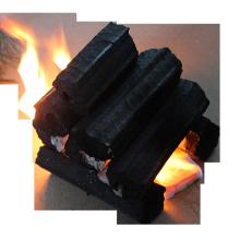 Máquina feita para churrasco Briquete de serragem Grelhador a carvão