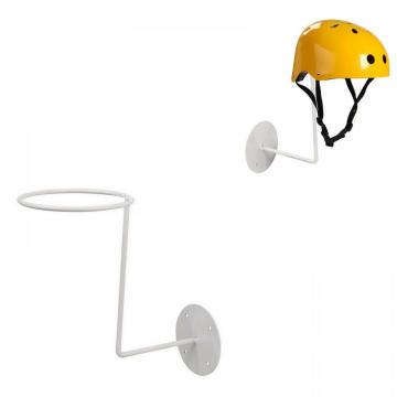 Soporte de exhibición de almacenamiento de soporte de estante de sombrero de metal blanco