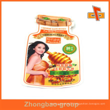 China OEM factory aseptic laminated custom plastic shaped bag with printing