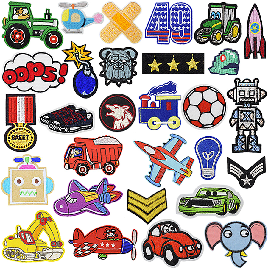 Boy Clothing Patches Cartoon