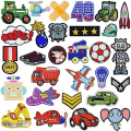 Junge Kleidung Cartoon Car Animals Stickflecken