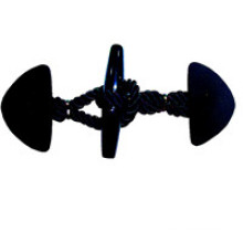 Botão de couro personalizado de fábrica para revestimento (HJB10)