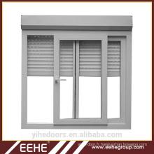 Couleur blanche stores français fenêtre en aluminium à obturateur