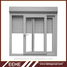 White color French window blinds aluminum glass shutter window