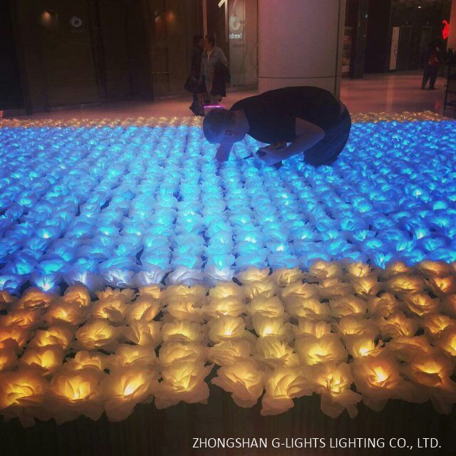Canadian Shopping Mall Led Flower Project By G Lights 4