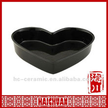 Keramik herzförmige Pizzaschale, Pizzaschale geformt