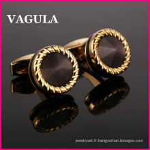 VAGULA qualité Catseye Gemelos Cuff Links L52505