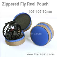 Vente en gros de qualité supérieure zippered Fly Reel Pouch