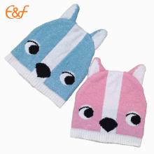 Chapeau tricoté funky nourrisson bébé chinois avec motif de tricotage des animaux