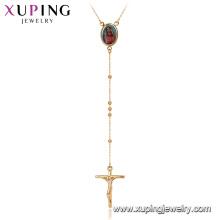 44896 Xuping nueva imagen de la moda foto marco jesús cruz rosario collar