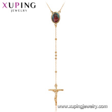 44896 Xuping new fashion picture photo frame jesus cross rosary necklace