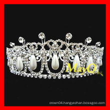 New design diamond and pearl wedding tiara