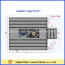 18oz vinyl coated lumber tarps with flaps