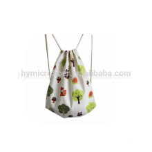 Manufacture canvas drawstring bags with custom logo for shopping