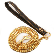 Custom 10mm Drop Shipping Dog Leashes Dog Chain Collars Stainless Steel Strong Pet Leash Chain
