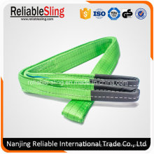 2t Green Eye-Eye Webbing Sling