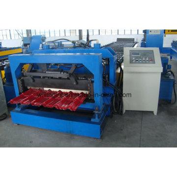 Glasformmaschine zur Herstellung von glasierten Dachziegeln