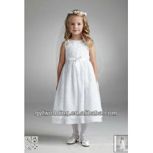 2016 Lovely Cute Hot-Selling Flower Girl Dress With PInk Flowers Hand Stiched