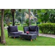 El nuevo sofá sintético de la sala de estar de los muebles al aire libre de la rota del PE del último diseño fijó