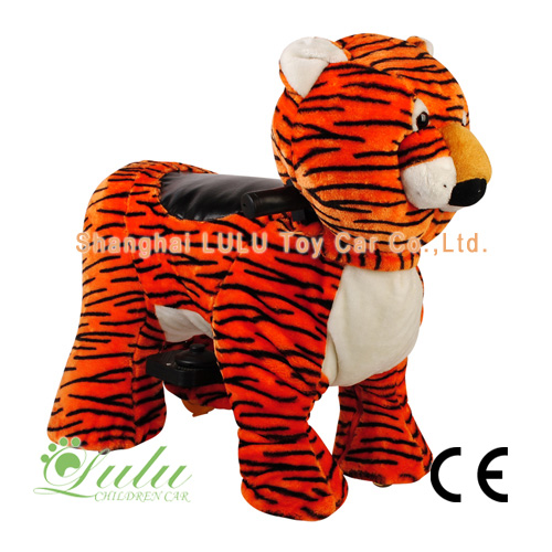 Battery Zippy Rides Walking Animal Tiger
