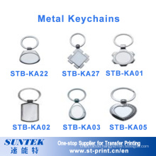 Wholesale Custom Blank Metal Sublimation Blank Key Chain Promotional Gift