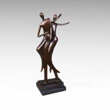 Abstrakte Statue Liebhaber Dancr Bronze Skulptur Tpy-049