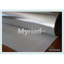 Aislamiento de fibra de vidrio con papel de aluminio, reflectante y plata Material de material para techos Laminado de aluminio laminado