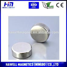 Спеченный NdFeB круглый диск / магнит цилиндра N35, N38, N40