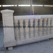 Egipto creme pedra escultura escada balaustrada (sy-b004)