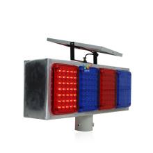 feu stroboscopique de feux de signalisation à LED clignotant en plastique solaire