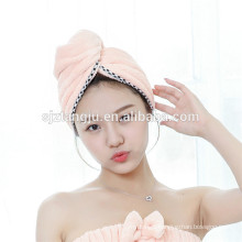 China supplier 25*65cm,300gsm Hair Drying Towel with Buttons
