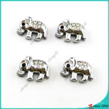 Encantos de slides de elefante animal prata bonito para pulseira (SC16041904)
