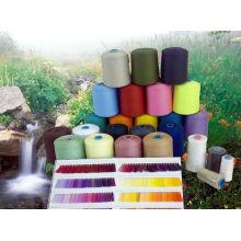 Dyed Polyester Spun Yarn 20/1 30/1 40/1