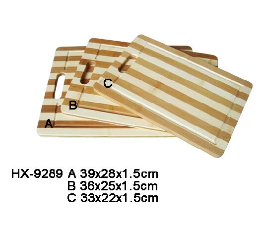 bamboo stripe cutting board