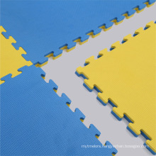 T Pattern Blue-yellow Color Judo Mat