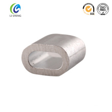 Oval wire rope alloy aluminum sleeve